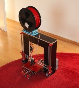 The new Prusa iteration 3 model, the machine that is being built.