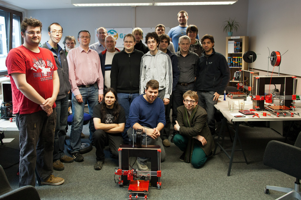 Reprap Buildparty Düsseldorf group picture
