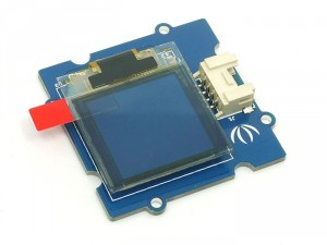 A small OLED screen to provide status messages that could just be plugged in into the I2C Grove connector