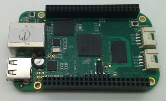 This seems to be the new SeeedStudio BeagleBone Green.